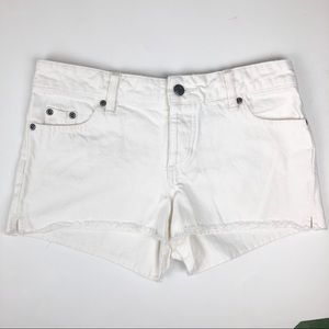 Old Navy Ultra Low Waist Jean Shorts, White